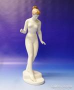 0M706 Hatalmas Aquincum porcelán női akt 36 cm