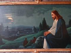 Hatalmas szentkép - Jézus az olajfák alatt
