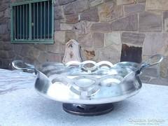 Ezüstözött  szecessziós asztali kínáló meseszép asztalközép,kínáló