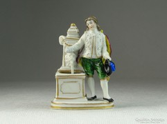 0K235 Antik miniatűr Altwien porcelán szobor 7.5cm
