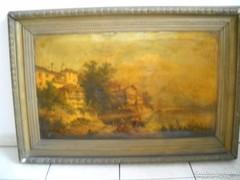 Antik nagyméretű olajnyomat, olajkép eladó!Festmény eladó!