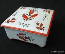 Népies mintáju bonbonier - Drasche porcelán