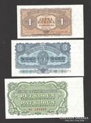 1953-as korona komplett sor! 1, 3, 5, 10, 25, 50, 100!! UNC!
