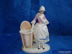 Antik porcelán figurális gyufagyújtó/cigitartó