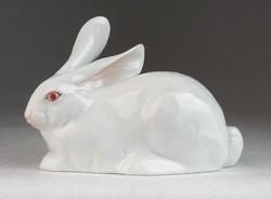0M946 Régi Herendi porcelán nyúl 8 cm