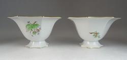 0M953 Régi hecsedlis Herendi porcelán tál párban