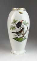 0M954 Régi Herendi Rothschild mintás váza 18 cm