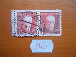 """CSEHSZLOVÁK 1 PÁR 1930 MASARYK """"PARKAN '36"""" P240"""