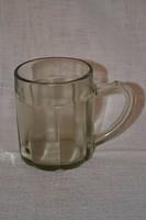 Füst színű üveg sörös korsó  ( DBZ 0091 )
