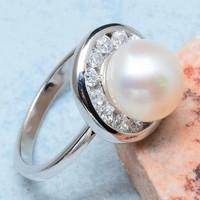 Ezüst gyűrű hatalmas gyönggyel