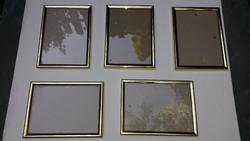 Arany színű képkeret 5 db 19,5 x 14,5 méretben