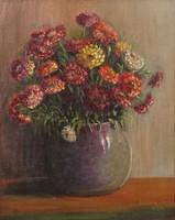 0M120 Körömy Jenny jelzéssel : Virágcsendélet 1934