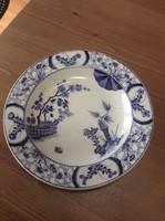 Antik francia japán mintás porcelán tányér