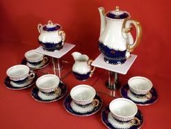 Zsolnay kávéskészlet Pompadour I. 6 személyes