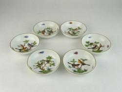 0M971 Rothschild mintás Herendi porcelán tál 6 db