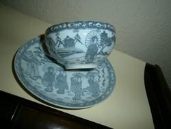 Tojáshéj vékony keleti porcelán (csésze + csészealj)