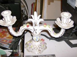 Szep vintage  porcelan gyertyatarto