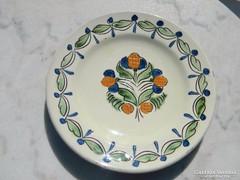 Városlődi népi majolika kerámia fali tányér