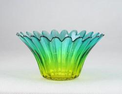 0N139 Virág alakú irizáló üveg dísztárgy