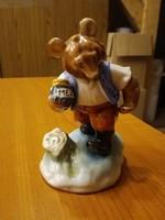 Herendi porcelán Mézes Mackó, maci figura