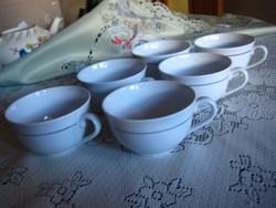 Zsolnay  teás csészék ,kék csíkos