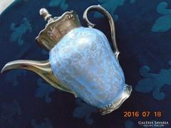 Franz Neukirschner tervezte Ezüstvirágos királykék impozáns teás kiöntő Waldershof-27 cm