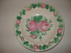 Antik August Novotny Altrohlau rózsás tányér