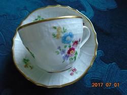 """""""Dresden""""antik egyedi virág és dombormintás csésze+alátét(2)"""