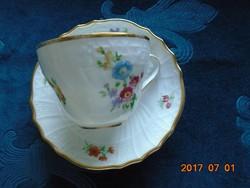 """""""Dresden""""antik egyedi virág és dombormintás csésze+alátét(3)"""