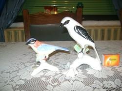 Porcelán madár figura - két darab