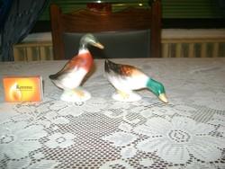 Kerámia kacsa figura - két darab - Bodrogkeresztúri