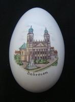 Porcelán bonbonier a debreceni nagy templommal - aquincumi