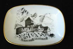 Liechtenstein vár - porcelán tálka