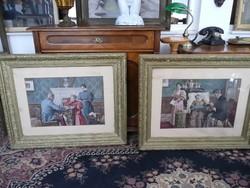 1 db Margitay kép eladó (a jobb oldali) a századforduló időszakából