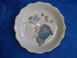 Aquincumi porcelán kék virágos gyűrűtartó tálka