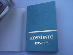 Köszöntő 1945-1975 Miniatűr könyv-zene Edititon Musica Kiadó