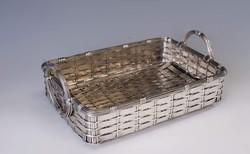 Ezüst nagyméretű kosár 1800' vége