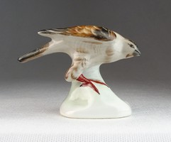 0N091 Régi Aquincum porcelán madár figura 7 cm