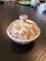 Antik zsolnay festett ékszertartó bonbonier