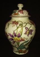 Hatalmas gyönyörű Zsolnay fedeles váza