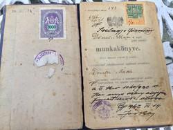 1926-1945 vezetett munkakönyv