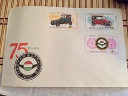 100 éves az Autóklub - elsőnapi boríték 1975-ből