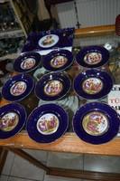 Altwien porcelán süteményes készlet