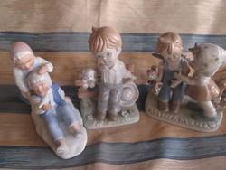 Hummel jellegű eredeti japán és német porcelánok