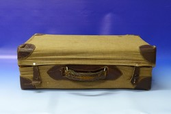 0N384 Antik kis méretű bőrönd koffer vulcanfiber