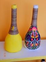 Üveg dekoráció, váza