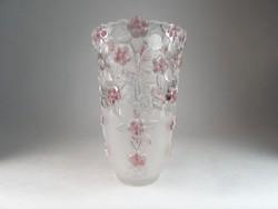 0N165 Jelzett német Waltherglas üveg váza 24 cm