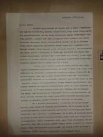 Hegedűs Géza gépelt, aláírt levele Murányi Győzőhöz