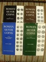 H. A. Seaby : Roman silver coins , római ezüst pénzek I-IV. teljes