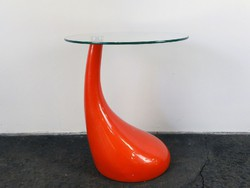 0E671 Üveglapos retro formatervezett design asztal